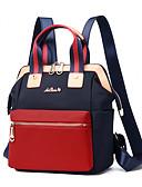 povoljno Maske za mobitele-Velika zapremnina Oxford tkanje Patent-zatvarač ruksak Jedna barva Dnevno Crn / Plava / Red