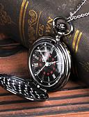 ราคาถูก นาฬิกาพก-สำหรับผู้ชาย นาฬิกาแบบพกพา นาฬิกาอิเล็กทรอนิกส์ (Quartz) สไตล์วินเทจ ดีไซน์มาใหม่ เท่ห์ ระบบอนาล็อก วินเทจ - สีดำ