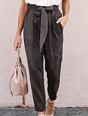 Χαμηλού Κόστους Σετ Εσώρουχα-Γυναικεία Βασικό Chinos Παντελόνι - Μονόχρωμο Μαύρο Πράσινο του τριφυλλιού Γκρίζο Τ M L