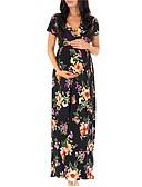 זול שמלות-מידי דפוס, פרחוני - שמלה סווינג בסיסי בוהו בגדי ריקוד נשים