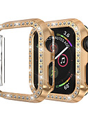 billige Smartwatch Case-for apple watch iwatch etui 44mm / 40mm / 38mm / 42mm series 4 3 2 1 iwatch etui deksel beskyttelsesramme med bling crystal crystal rhinestone diamant