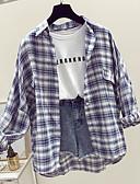 זול חולצות לגברים-משובץ דמקה חולצה - בגדי ריקוד גברים פול