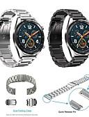 baratos Bandas de Smartwatch-Pulseiras de Relógio para Huawei Assista GT Huawei Fecho Clássico Aço Inoxidável Tira de Pulso
