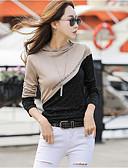 billige Bluser-T-skjorte Dame - Fargeblokk, Lapper Grunnleggende Svart og Grå Mørkegrå