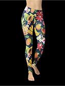 baratos Chapéus Femininos-Mulheres Básico Legging - Estampado, Estampado Cintura Alta Arco-íris S M L / Skinny
