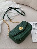 ราคาถูก ชุดสำหรับงานเลี้ยง-สำหรับผู้หญิง โซ่ PU Crossbody Bag สีทึบ สีดำ / ทับทิม / เขียวเข้ม