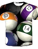 Χαμηλού Κόστους Ανδρικά μπλουζάκια και φανελάκια-Ανδρικά T-shirt Κλαμπ Κομψό στυλ street / Πανκ & Γκόθικ Συνδυασμός Χρωμάτων / Γραφική Στρογγυλή Λαιμόκοψη Στάμπα Ουράνιο Τόξο / Κοντομάνικο