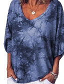 billige T-skjorter til damer-T-skjorte Dame - Geometrisk Vin