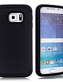 olcso Férfi nyakkendők és csokornyakkendők-Case Kompatibilitás Samsung Galaxy S6 Ütésálló Fekete tok Egyszínű TPU / PC