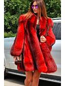 povoljno Ženske kaputi od kože i umjetne kože-Dugih rukava Umjetno krzno Vjenčanje Ženski ogrtač S Fur Sakoi / jakne