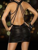 billige Sexy Kropper-Dame Sexy Uniformer og kinesiske kjoler Nattøy - Ensfarget, Med stropper i ryggen