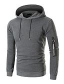 olcso Férfi pólók és pulóverek-Férfi Alap Kapucnis felsőrész Egyszínű