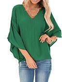billige Bluser-T-skjorte Dame - Ensfarget Grunnleggende Svart
