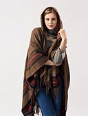 ราคาถูก ผ้าคลุมไหล่-สำหรับผู้หญิง ลายแถบ / ลายพิมพ์ / ลายบล็อคสี ปาร์ตี้ / ทำงาน - ผ้าพันคอสี่เหลี่ยมผืนผ้า