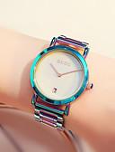 ราคาถูก นาฬิกาข้อมือแฟชั่น-สำหรับผู้หญิง นาฬิกาควอตส์ นาฬิกาอิเล็กทรอนิกส์ (Quartz) รูปแบบชุดเป็นทางการ สไตล์ สแตนเลส หยก 30 m กันน้ำ ปฏิทิน กันกระแทก ระบบอนาล็อก ความหรูหรา สีสัน - สีดำ ขาว สีม่วง / หนึ่งปี