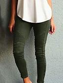 Χαμηλού Κόστους Πουκάμισο-Γυναικεία Κομψό στυλ street Λεπτό Παντελόνι - Μονόχρωμο Ψηλή Μέση Βαμβάκι Μαύρο Κρασί Πράσινο Χακί XS Τ M