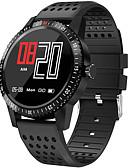 billige Smartwatch Bands-Smartklokke Digital Moderne Stil Sport Silikon 30 m Vannavvisende Pulsmåler Bluetooth Digital Fritid Utendørs - Svart Rød