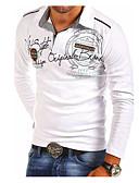 povoljno Muške polo majice-Veličina EU / SAD Polo Muškarci Dnevno Slovo Kragna košulje Crn / Dugih rukava