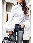 billige Bluser-Skjorte Dame - Ensfarget Gatemote Svart