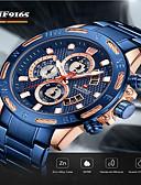 ราคาถูก นาฬิกาข้อมือสายหนัง-NAVIFORCE สำหรับผู้ชาย นาฬิกาแนวสปอร์ต ญี่ปุ่น นาฬิกาอิเล็กทรอนิกส์ (Quartz) สไตล์สมัยใหม่ กีฬา สแตนเลส ดำ / ฟ้า / เงิน 30 m กันน้ำ ปฏิทิน โครโนกราฟ ระบบอนาล็อก ภายนอก กองทัพบก - Rose Gold Black