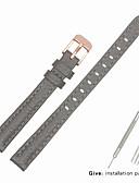 billige Smartwatch Bands-ekte lær / Lær / Kalvehår Klokkerem Strap til Grå Annen / 17cm / 6.69 tommer / 19cm / 7.48 Tommer 1cm / 0.39 Tommer