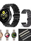 billige Smartwatch Bands-for samsung gear sport / s2 classic / galaxy watch 42mm / galaxy watch aktiv / galaxy watch active 2 rustfritt stål armbånd for armbånd