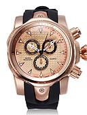 ราคาถูก นาฬิกากีฬา-สำหรับผู้ชาย นาฬิกาแนวสปอร์ต ญี่ปุ่น นาฬิกาอิเล็กทรอนิกส์ (Quartz) ยางทำจากซิลิคอน ดำ โครโนกราฟ Creative ดีไซน์มาใหม่ ระบบอนาล็อก ภายนอก มาใหม่ - สีดำ สีทอง+สีดำ Rose Gold สองปี อายุการใช้งานแบตเตอรี่