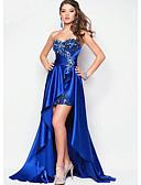 זול שמלות נשף-גזרת A לב (סוויטהארט) א-סימטרי תחרה / סאטן נמתח נשף רקודים שמלה עם פרטים מקריסטל על ידי LAN TING Express
