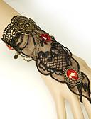 baratos Relógios de quartzo-Mulheres Vermelho Pulseiras Vintage Pulseiras Anéis Brincos / pulseira Retro Aranhas Importante Vintage Na moda Góticas Fashion Resina Pulseira de jóias Preto Para Halloween