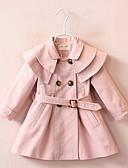 povoljno Jakne i kaputi za djevojčice-Djeca Djevojčice Ulični šik Jednobojni Jakna i kaput Blushing Pink