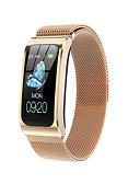baratos Smart watch-Relógio inteligente Digital Estilo Moderno Esportivo 30 m Impermeável Monitor de Batimento Cardíaco Bluetooth Digital Casual Ao ar Livre - Preto Dourado Prata