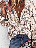 billige Gensere til damer-Løstsittende V-hals Store størrelser Skjorte Dame - Geometrisk Lilla