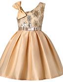 Χαμηλού Κόστους Λουλουδάτα φορέματα για κορίτσια-Γραμμή Α Μέχρι το γόνατο Φόρεμα για Κοριτσάκι Λουλουδιών - Πολυεστέρας / Μείγμα Πολυ&Βαμβάκι Αμάνικο Ένας Ώμος με Σχέδιο Πεταλούδα / Ζώνη / Κορδέλα / Πλισέ