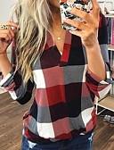 baratos Moda Íntima Exótica para Homens-Mulheres Camisa Social Básico / Moda de Rua Estampado, Geométrica Azul
