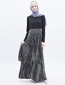 billige AirPods Cases-Arabian Voksne Dame Cosplay Fritid / hverdag Cosplay Kostumer Arabisk kjole hijab Til Fest Halloween Polyester Halloween Karneval Maskerade Kjole