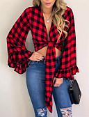 billige Bluser-Skjorte Dame - Grafisk Svart