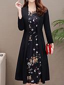 olcso Női ruhák-Női Vintage Utcai sikk Hüvely Kétrészes Ruha - Fodrozott Fűzős, Virágos Midi