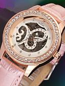 זול שעונים מכאניים-WINNER בגדי ריקוד נשים שעוני יוקרה שעוני שלד שעון יד מכני ידני עור שחור / לבן / ורוד 30 m חריתה חלולה אנלוגי נשים מדבקות עם נצנצים אלגנטית - לבן שחור ורוד / מתכת אל חלד