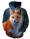 povoljno Majice s kapuljačama i trenirke za dječake-Muškarci Ležerne prilike / Osnovni Hoodie Print / 3D