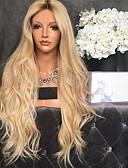 billiga Mobiltelefon kablar-Syntetiska peruker Kinky Rakt Middle Part Peruk Lång Blekt Blont Syntetiskt hår 26 tum Dam Dam Mörkbrun