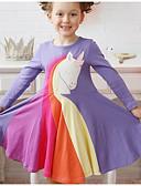 povoljno Haljine za djevojčice-Dijete koje je tek prohodalo Djevojčice Duga Haljina purpurna boja