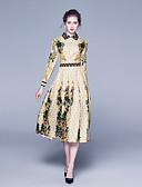 olcso Női ruhák-Női Ing Ruha Virágos Midi