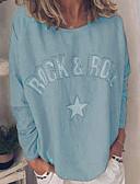 billige Dametopper-T-skjorte Dame - Bokstaver Lyseblå