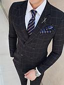 Χαμηλού Κόστους Κοστούμια-Μαύρο / Θαλασσί Περιπετειώδης Στενή εφαρμογή Πολυεστέρας Κοστούμι - Μύτη Σταυρωτό Με Τέσσερα Κουμπιά / Στολές