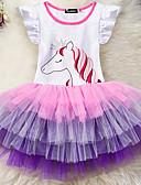 זול שמלות לבנות-שמלה קולור בלוק בנות ילדים