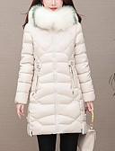 olcso Női hosszú kabátok és parkák-Női Egyszínű Pehely, Poliészter / POLY Fekete / Fehér / Arcpír rózsaszín M / L / XL