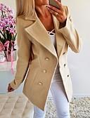 Χαμηλού Κόστους Blazers-Γυναικεία Μπλέιζερ, Μονόχρωμο Κλασικό Πέτο Πολυεστέρας Λευκό / Κίτρινο / Γκρίζο
