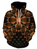 olcso Férfi pólók és pulóverek-Férfi Extra méret Alap Kapucnis felsőrész 3D Kapucni