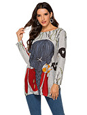 povoljno Nova moderna odjeća-Majica s rukavima Žene - Ulični šik / Elegantno Dnevno Geometrijski oblici Kolaž / Print Plava