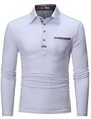 olcso Férfi pólók-Üzlet / Elegáns Férfi Polo - Egyszínű Fekete